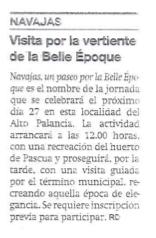 Navajas Belle Epoque.