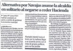 Alternativa por Navajas asume la Alcaldía