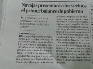 Recorte prensa Asamblea 30-10-15