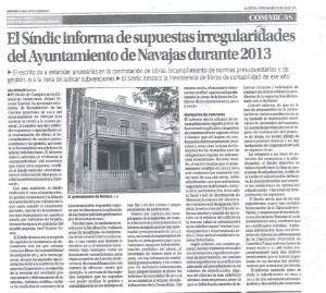 Irregularidades cuentas 2013
