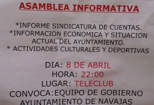 Asamblea al Pueblo de Navajas.