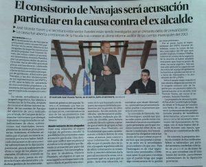 El consistorio de Navajas será acusación particular en la causa contra el exalcalde