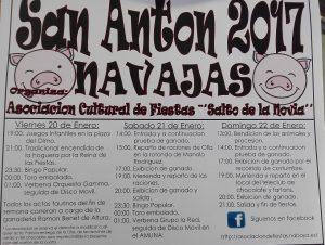 Programa de Fiestas de San Antón - Navajas 2017