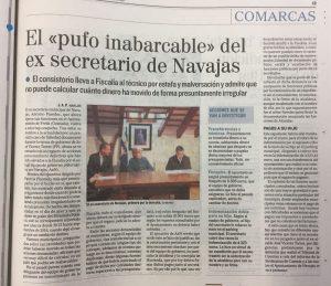 El pufo inabarcable del exsecretario de Navajas