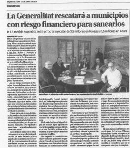 La Generalitat rescatara a municipios con riesgo financiero para sanearlos